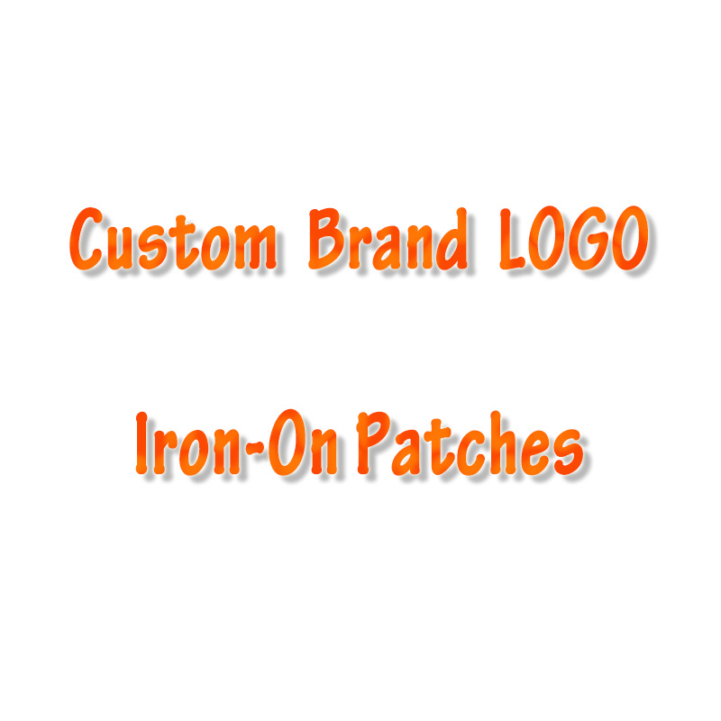Pulaqi Custom Brand Logo Patch DIY Embroidered Patches For Clothing Iron On Patches For Clothing Stickers Stripes Applique F