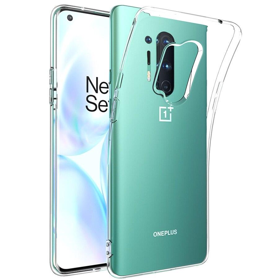 Силиконовый чехол для мобильного телефона чехол для Oneplus Nord N10 N100 One Plus Honor 8 Pro 8T 9 7-7 лет, 6 комплектов/партия, размер 6T прозрачный мягкий тонкий ...