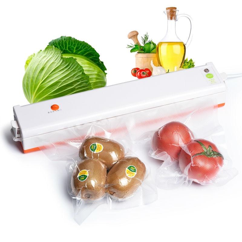 220V Household Food Vacuum Sealer Packaging Machine Film Sealer Vacuum Packer Including 15Pcs Bags