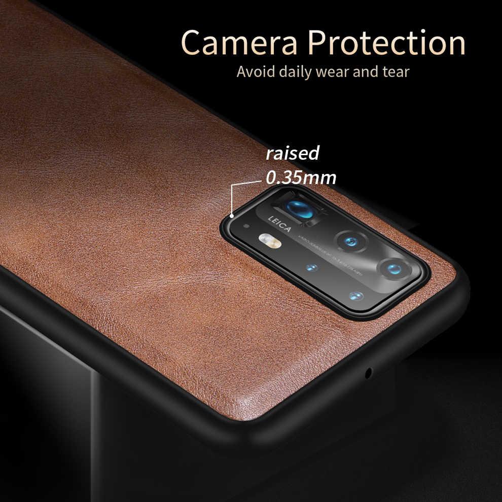 X-Level Kulit Case untuk Huawei P40 Pro P30 Pro Original Silikon Lembut Tepi Belakang Ponsel Cover untuk Huawei p40 Lite 5G Case