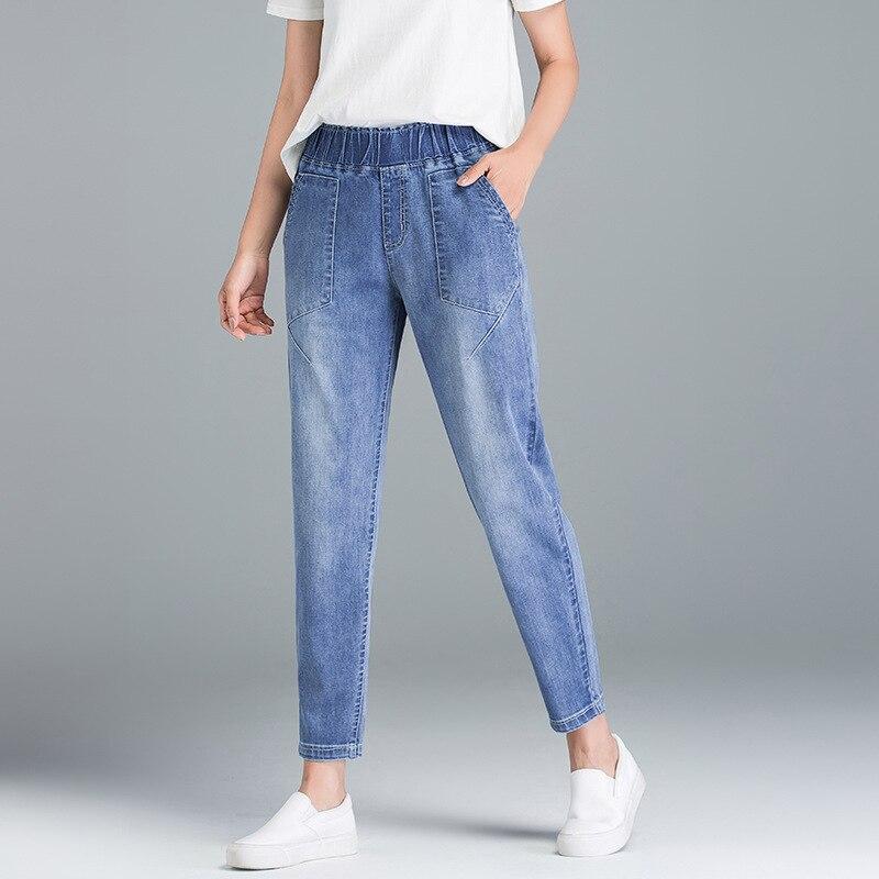 Autumn Women Skinny Jeans DenimPants Top Stretch Women High Waist Plus Size Jeans