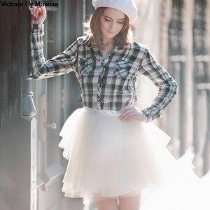 Image 2 - Mode femmes blanc Mini Tulle jupe fée noir Secret saia Voile Bouffant jupe bouffante courte Tutu jupes sur mesure