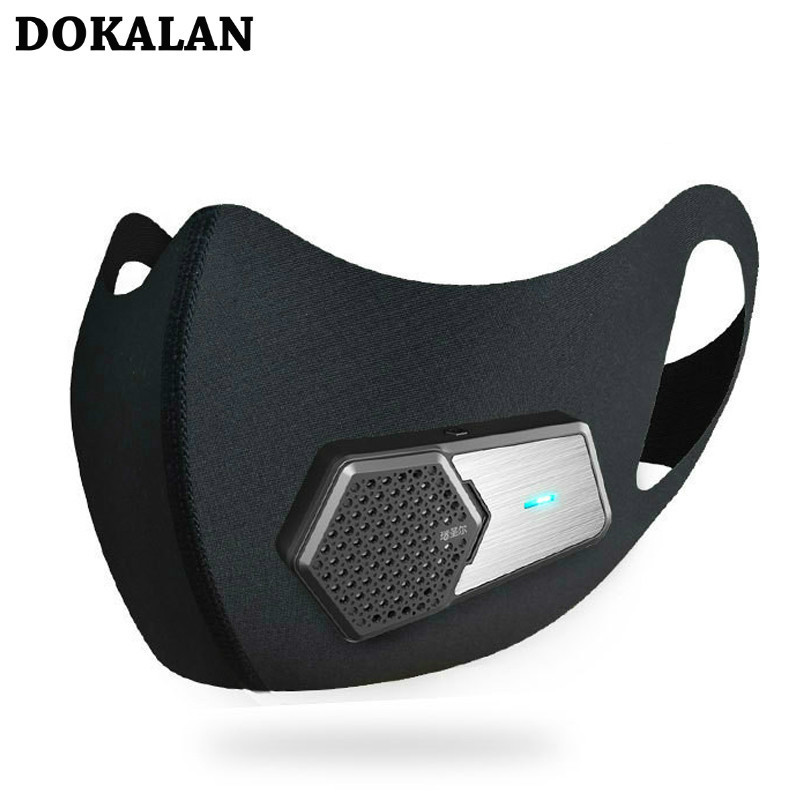 2020 Face Mask PM2.5 Smart Dustproof Electric Filter  Маска Industrial Dust Breathing Protection Rechargeable Mascarilla Masque