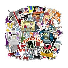 50 pçs dos desenhos animados animações voar para fora um futurama adesivos personalizado graffiti bagagem decorativa impermeável crianças adesivo brinquedos