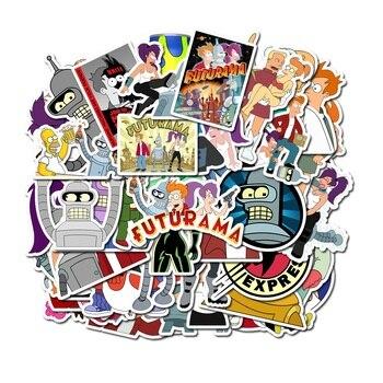 50 шт Мультяшные анимации вылететь на наклейки «Футурама» персонализированные граффити декоративные чемоданы Водонепроницаемый Дети стикер игрушки