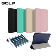 Case for IPad Mini 1/2/3, GOLP 2 In 1 Perfect Fit Magnetic PU Leather Smart Cover PC Translucent Back 1/2/3