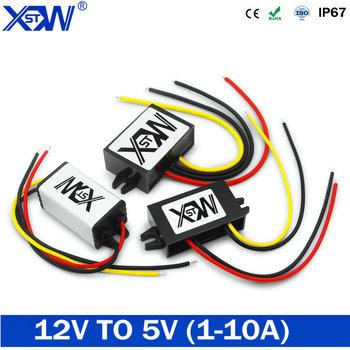 Power supply Converter DC to DC 12V to 5V Step-down Module Power Converter 1A 2A 5A 6A 10A 5V High Efficiency Buck Module CE dc dc 5a 4usb output step down buck converter 7 60v to 5v adjustable power supply module with case voltage transformer module