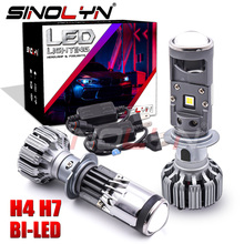Sinolyn H4 H7 Led 55w Bi Led Lens Headlight Projector Mini 1.5 Inch Lens For Motorcycle Headlight 5500k Car Accessories Tuning