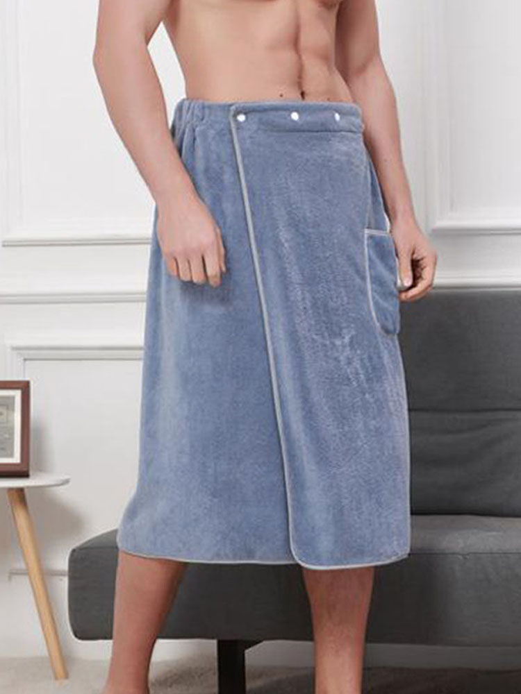 Men Nightwear Short-Pants Pajamas Culottes-Bathrobe Microfiber Sleep-Bottoms Sexy