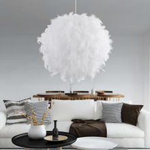 New Creative Feather Ceiling Light White Modern Droplight Ceiling Lamp Bedroom Study Hanging Lamp Bedroom living room Lighting