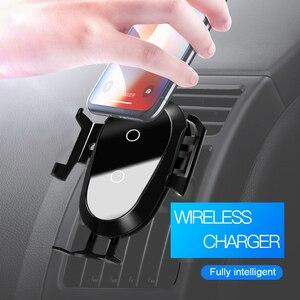 Image 5 - ROCK inteligentna na podczerwień 10W Qi bezprzewodowa ładowarka samochodowa do iPhone XR XS MAX Samsung szybkie bezprzewodowe ładowanie