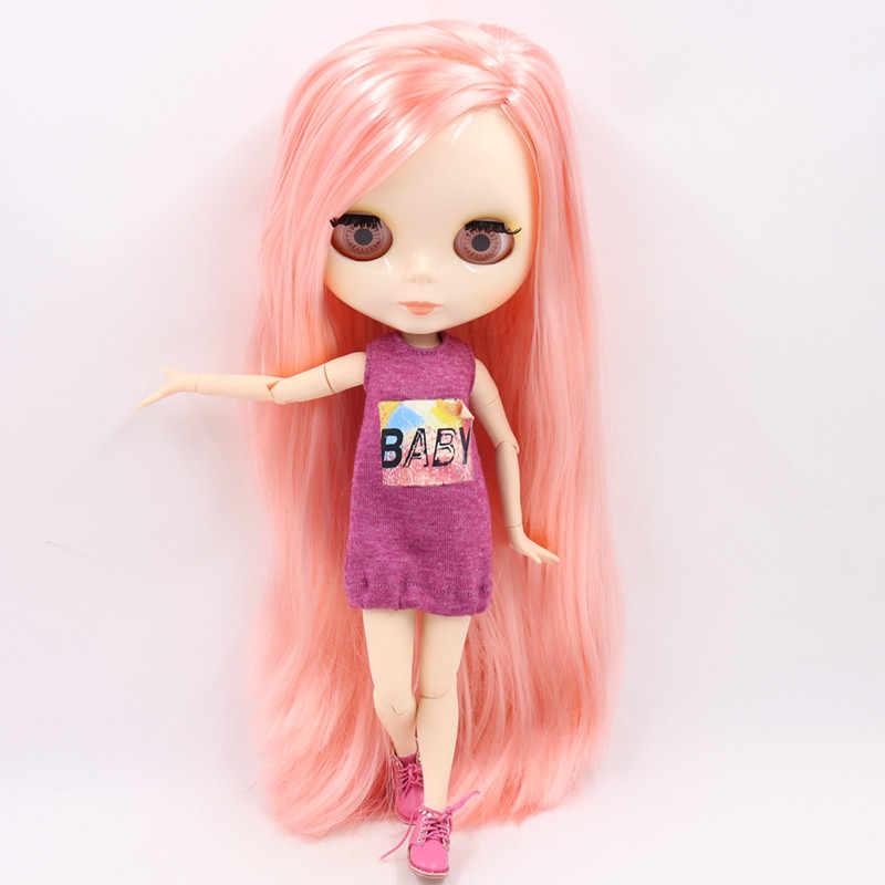 ICY muñeca Blythe desnuda 1/6 cuerpo de articulación 30CM BJD juguetes cara blanca brillante con manos extra AB y placa frontal DIY muñecas de moda regalo de niña