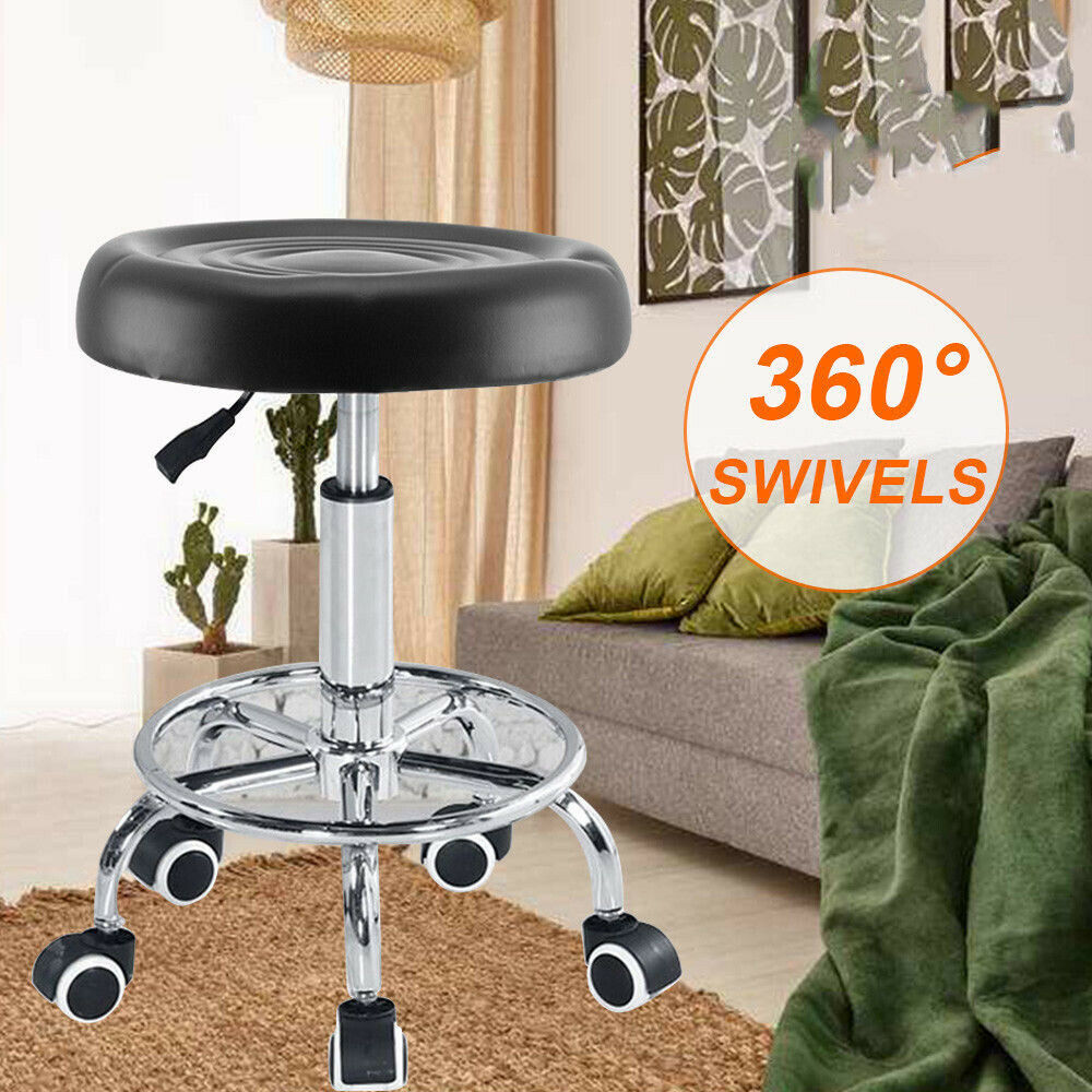 Yonntech Hydraulic Rolling Swivel Stool Chair Salon Spa Tattoo Facial Barber Chairs