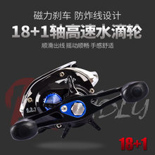 Bassland 2020 Metalen 18 + 1BB Casting Reel Fishing Links/Rechts Handvat Metalen Spoel Magnetische Rem Anti-Tie draad Zeevisserij Reel(China)