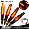 4 pièces LED clignotants éclairages pour moto 12 * 335SMD queue clignotant coulant clignotant clignotant de moto pliable