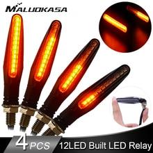 4 sztuk kierunkowskaz LED oświetlenie dla motocykla 12 * 335SMD ogon migacz płynąca woda migacz zginalny miganie motocykla światła