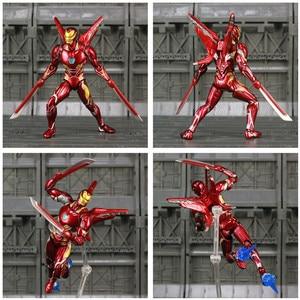 "Image 4 - Iron Man MK50 6 ""Action FIGURE Avenger IRONMAN NANO Mark 50 Infinity War Tony Stark Legends KOs SHF endgameของเล่นตุ๊กตา"