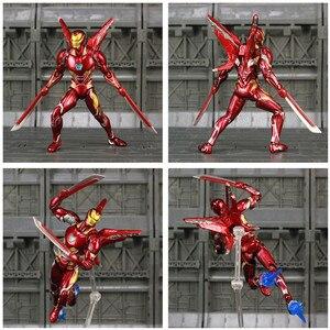 "Image 4 - Iron Man MK50 6"" Action Figure Avenger Ironman Nano Mark 50 Infinity War Tony Stark Legends KOs SHF Endgame Toys Doll Model"
