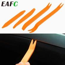 Professionnel 4 pièces Orange ABS Automobile Audio porte pince panneau garniture tableau de bord Auto Radio enlèvement Pry outils ensemble voiture panneau enlèvement outil