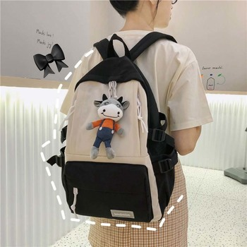 Women Travel Backpack Korean Style Black Fashion Fashionable School Bags For Teenage Girls Sac A Dos Student Bag Schoolbag fashion genuine leather backpack women 2019 sac a dos schoolbag for teenage girls waterproof bag travel purse female brand