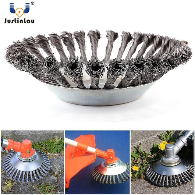 New 150mm/200mm Steel Wire Trimmer Head Grass Brush Cutter Dust Removal Weeding Plate for Lawnmower Long Lifetime and Durable