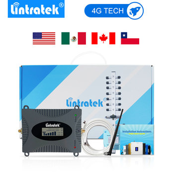 Lintratek 4G Signal Amplifier (Band 4) LTE 1700/2100mhz Cell Phone Booster 4G Antenna AWS Mobile Phones Repeater Full Set.