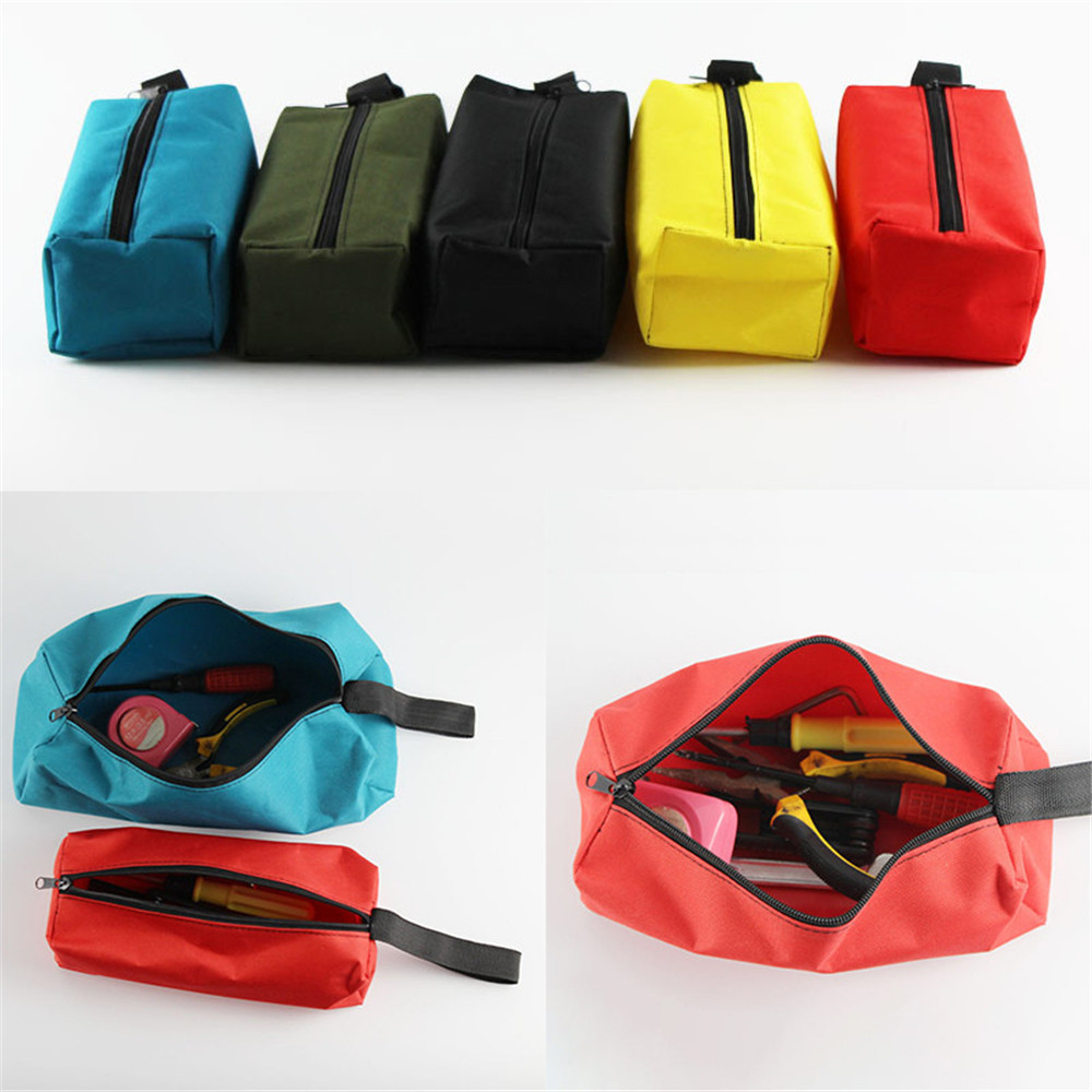 Waterproof Oxford Canvas Storage Hand Tool Bag Screws Nails Drill Bit Metal Parts Fishing Travel Makeup Organizer Pouch Bag Case