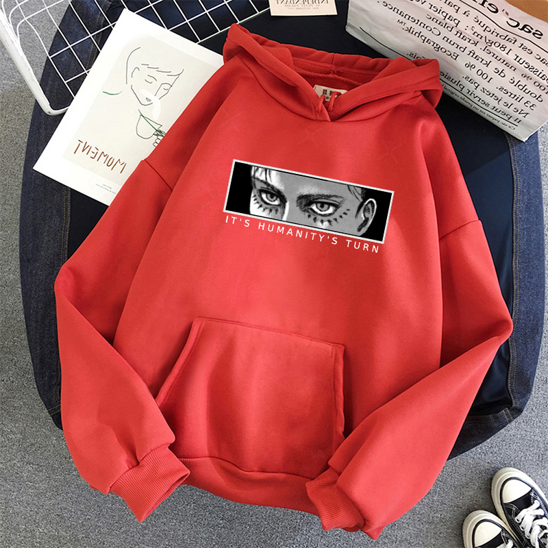 Anime Attack on Titan Hoodie Eren Yeager Print Classic Sweatshirts Funny Cartoon Harajuku Womens Mens Hip Hop Streetwear Jacket 16
