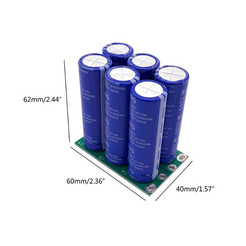 Image 5 - 16V 16.6F Super Farad Capacitor 6PCS/Set 2.7V 100F Super Capacitor with Protection Board Double Row for Car Automotive RectifierCapacitors   -