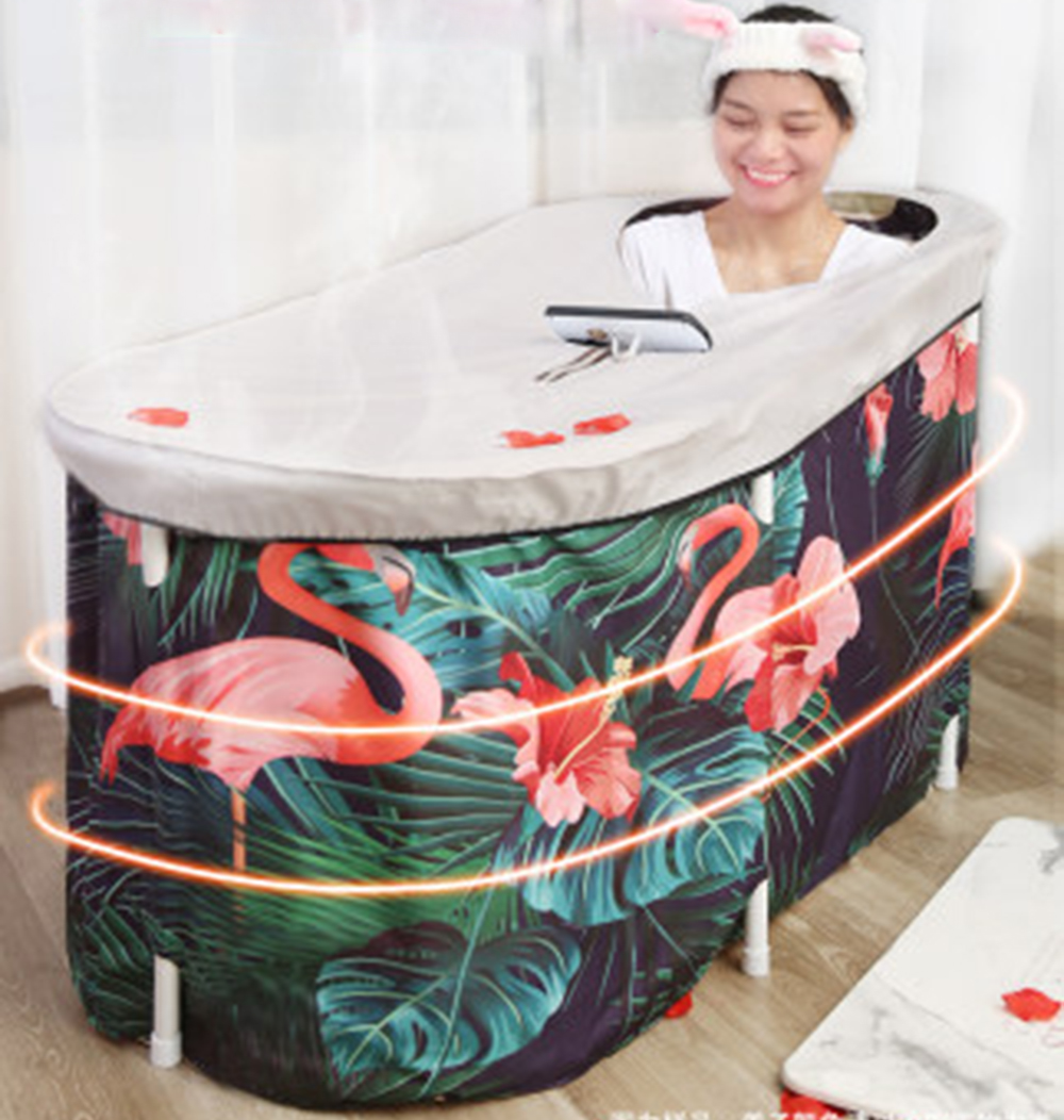Bath Sauna Adult Folding Bathtub Bath Barrel Household Large Tub Bath Barrel Thickened Adult Bath Tub Full Body Hot Tub Banheira