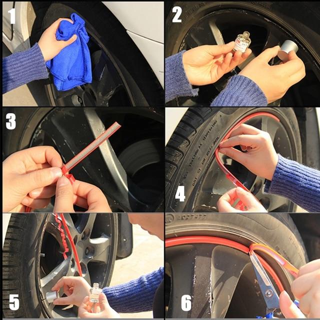 8M/Roll Car Wheel Rim blade Protectors Decor Strip Tire Guard Line Rubber Moulding Trim Anti scratch strip car styling