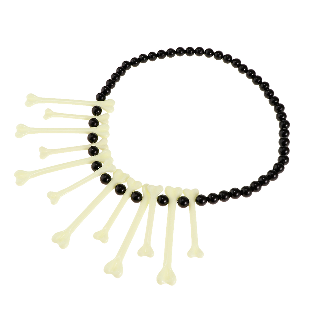 Funny Beads Bones Necklace Gag Gift Halloween Cosplay Hen Party Costume Accessories