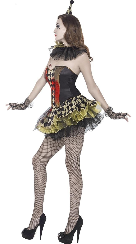 Filles Enfants Enfants Costume Halloween effrayant évasée crâne ras-du-Spooky robe Swing