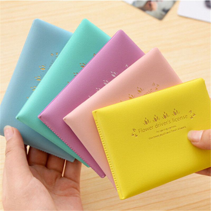 Maccaron Color PVC Cards Set Ultra-thin Unisex Business Card Holder ID Credit Card Holder Case Women Travel passport Card Cover