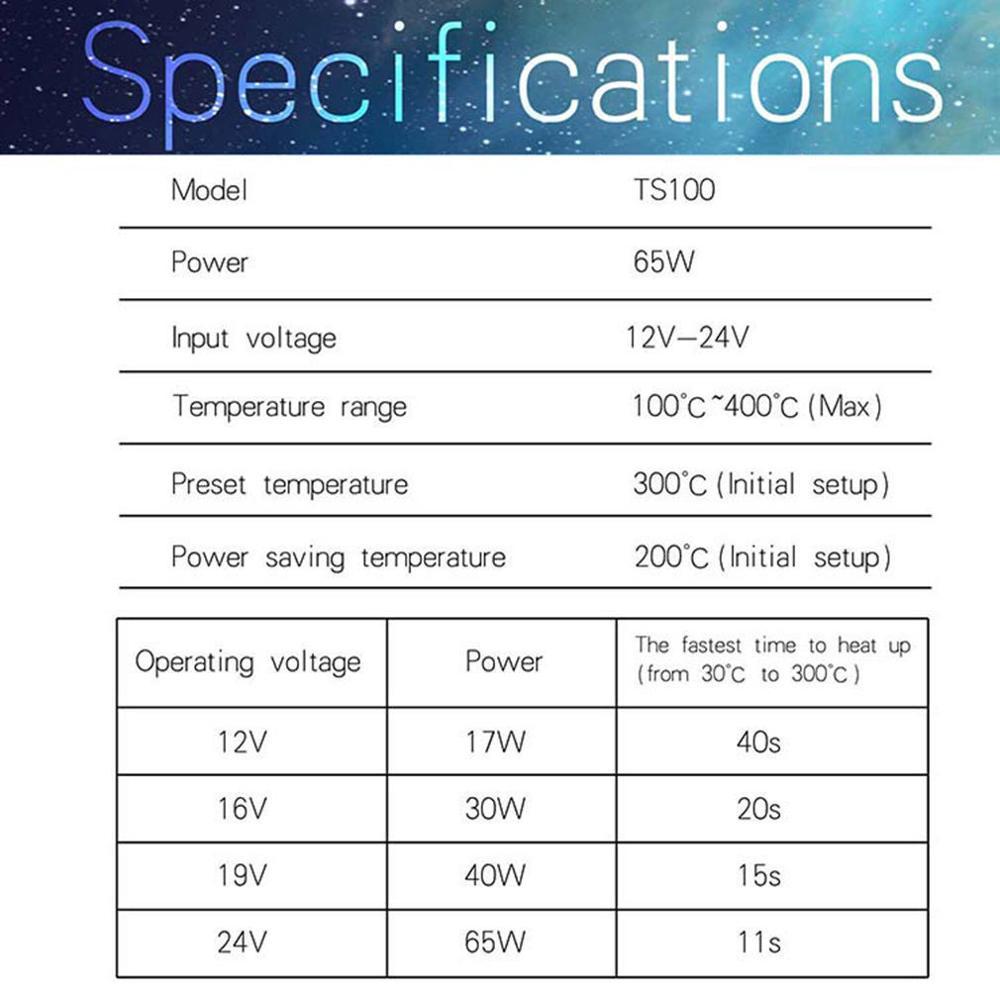 Display Soldering-Iron-Station Temperature TS100 Electric Digital TS80P Adjustable Mini