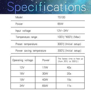 Image 5 - TS100ミニデジタル電気はんだごて液晶プログラマブル表示調整可能な温度はんだ先端と電源
