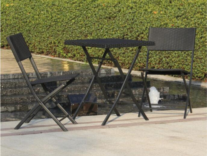 Leisure garden table Balcony table Coffee tables Iron Folding desk with chairs