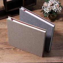 16-inch 20-page auto-adesivo hoto lbum diy crapbook capa de linho antigo personalizado hoto lbum fazer casamento lbum