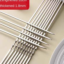 Bbq-Sign Barbecue-Needle-Bar Stainless-Steel Flat Camping Picnic-Tool Outdoor Reusable
