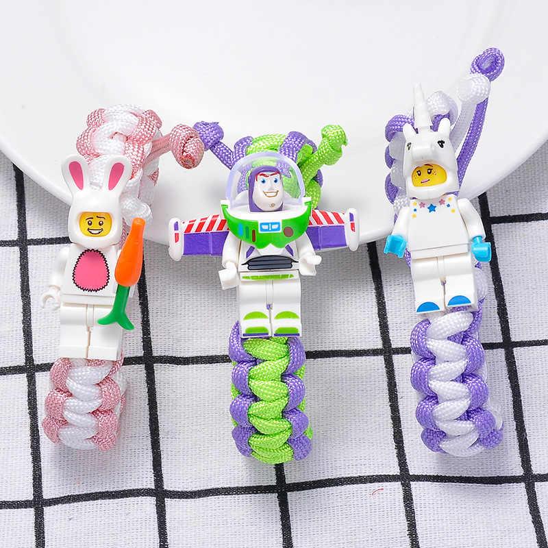 Brinquedo história 4 buzz lightyear pulseira blocos de construção brinquedos figuras de ação legoinglys vingersingly joker ferro batman minecrafting