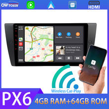 9'' Android auto PX6 4G+64G Car Multimedia Player For BMW 3 Series E90 E91 E92 E93 M3 GPS Navigation Wireless Carplay Radio HDMI(China)