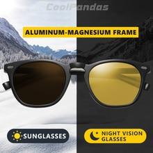 CoolPandas 2020 Retro kadınlar kedi göz güneş gözlüğü fotokromik polarize erkek güneş gözlüğü gündüz gece görüş Oculos gafas de sol mujer