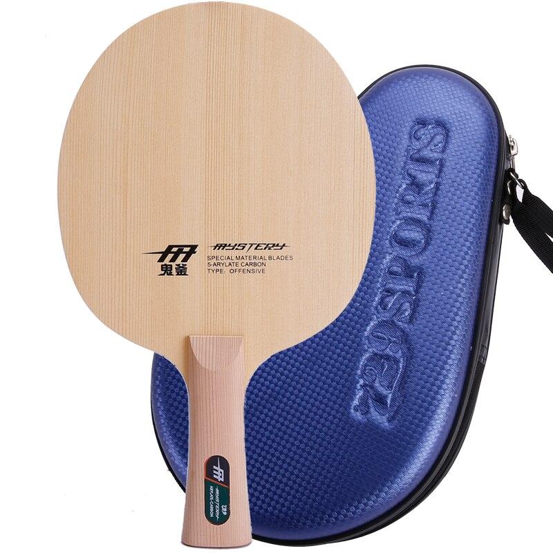 RITC 729 Mystery Cypress 5Ply wood, все + лезвие для настольного тенниса для ракетки для пинг понга