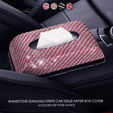 Diamond Car Tissue Box Cover Napkin Paper Holder Towel Dispenser Decoration Gift(China)