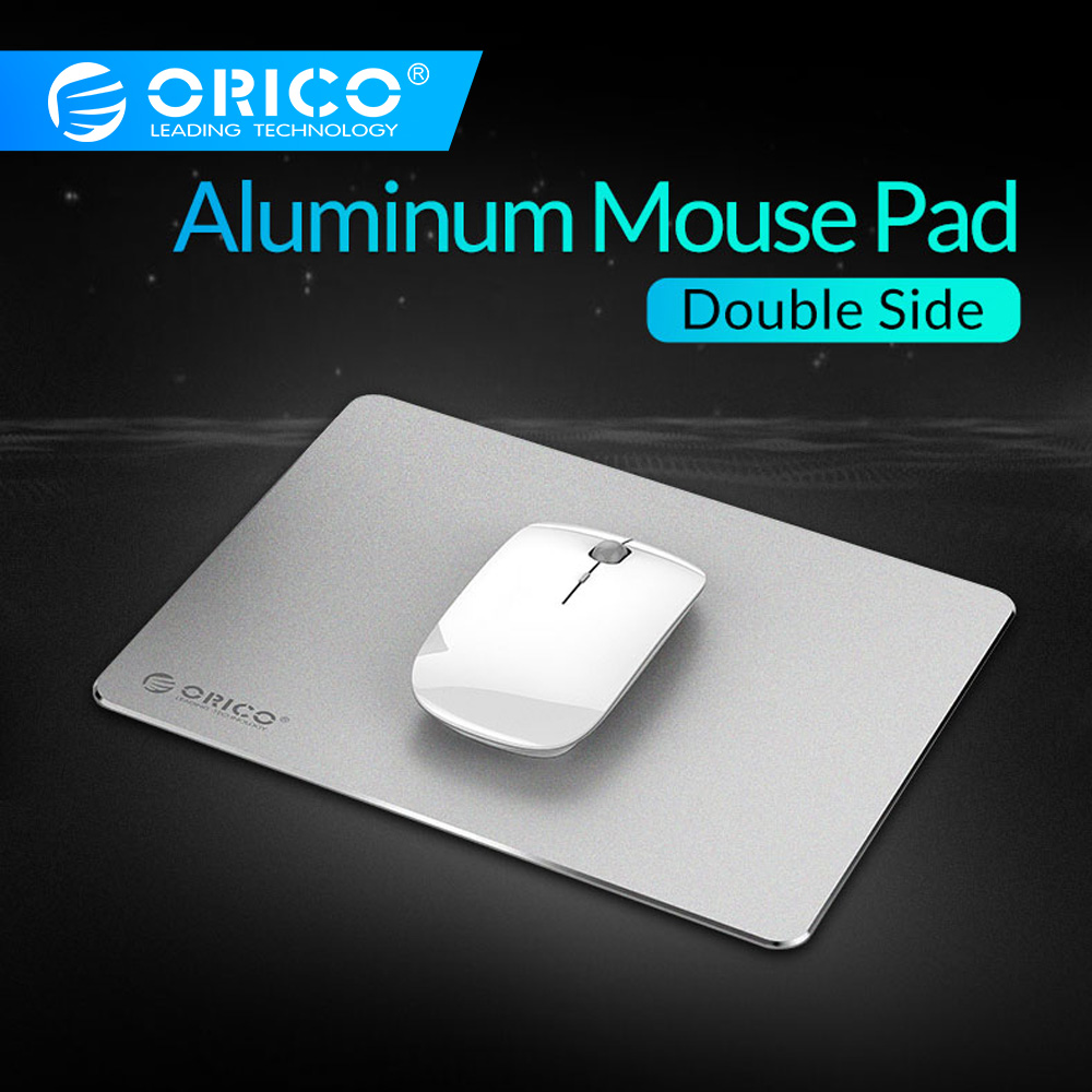 ORICO Gaming Aluminum Mouse Pad Hard Smooth Thin Computer Mousepad Double Side Waterproof Non-slip Hard For Home Office Desk Mat