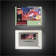 アラジンのユーロバージョンアクションゲームカードとリテールボックス
