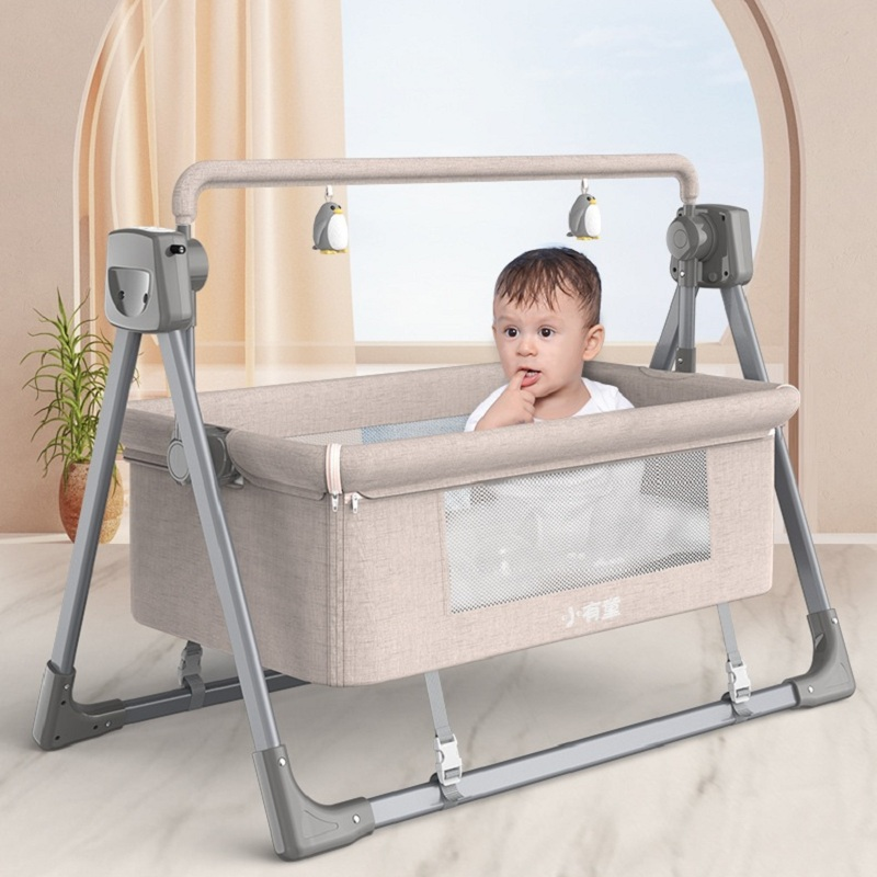 Intelligent electric baby cradle  Cradle  Rocking chair  Crib  Smart swing  Bluetooth remote control  music playing