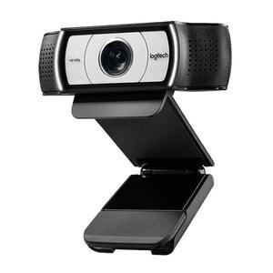Веб-камера Logitech C930c, оригинальная умная HD-камера с поддержкой разрешения 1080P и крышкой для ПК, линза Zeiss, подключение через USB, 4-кратное увелич...