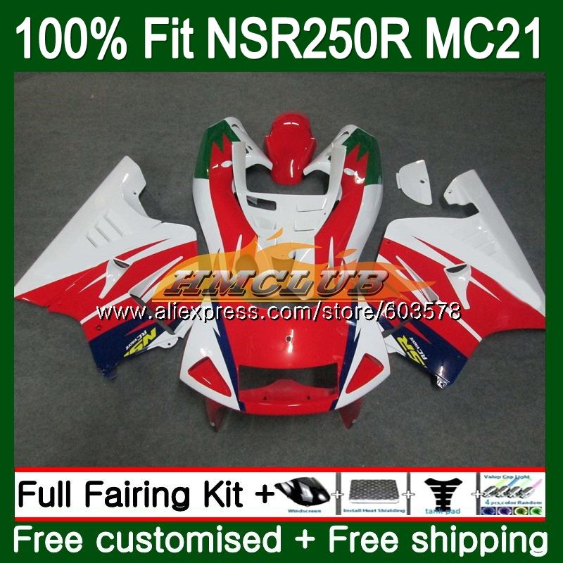 Injection For HONDA NSR250R MC21 PGM3 1990 1991 1992 1993 101CL.38 Red White <font><b>NSR</b></font> <font><b>250</b></font> R NSR250 RR <font><b>NSR</b></font> 250R 90 91 92 93 Fairing image