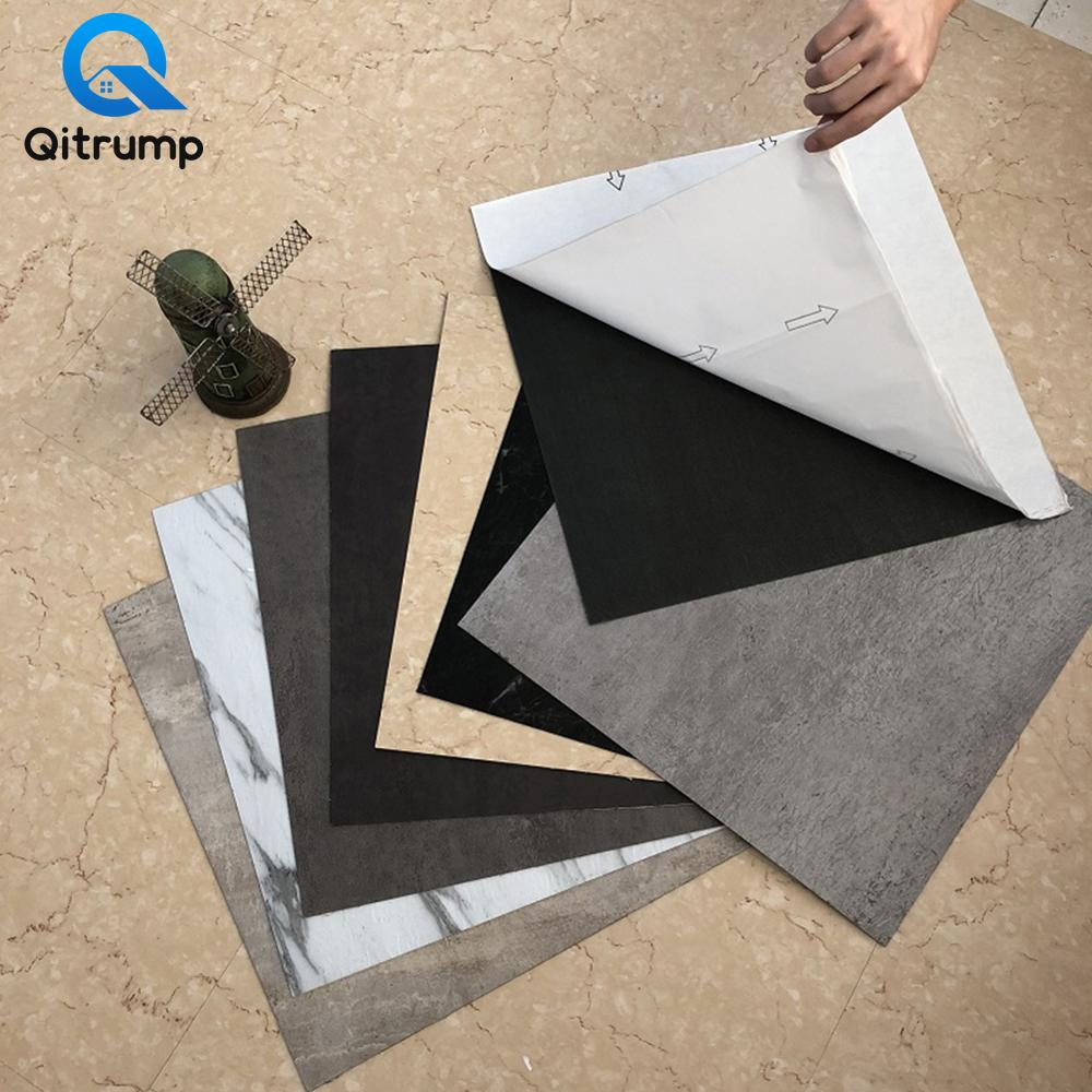 Self Adhesive PVC Marble Tile Stickers Waterproof Wallpaper Art Floor Stickers Kitchen Decorative Film DIY Ground Contact Paper